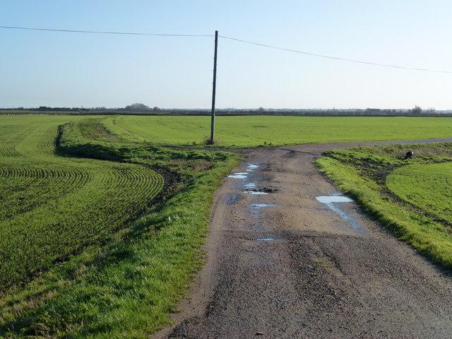 Farm tracks south of Chatteris