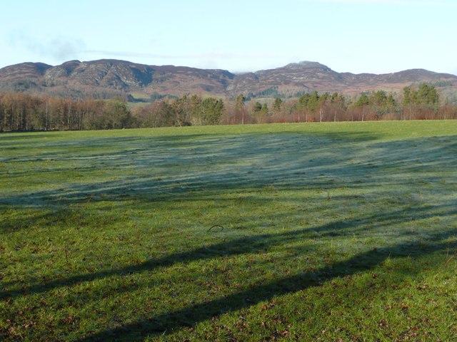 Frosty pasture near Craigantaggart