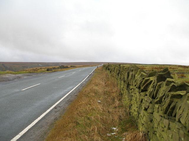 Saddleworth Road towards Deanhead Moor