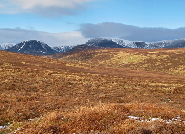 Lower slopes of Meall nan Ruaig