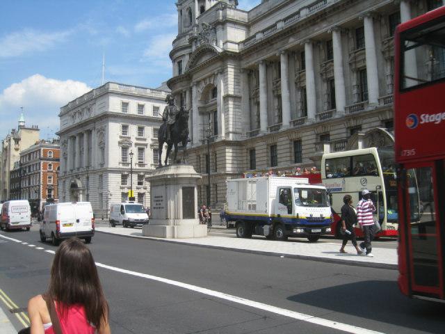 White vans in Whitehall