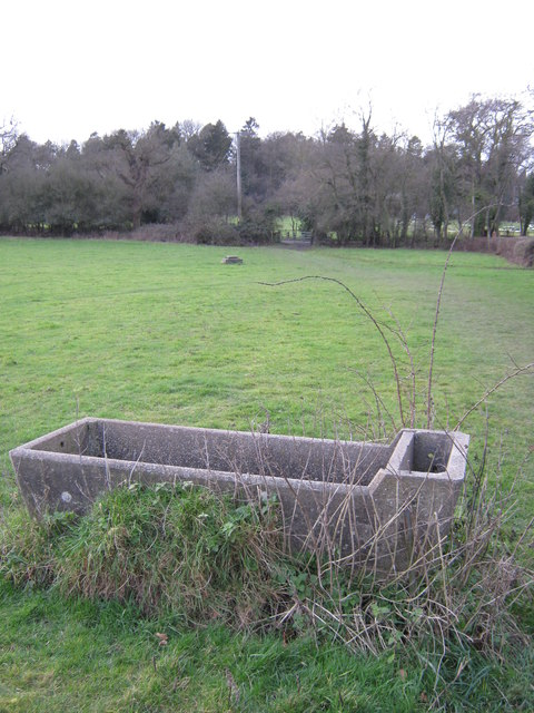 Concrete Trough in field
