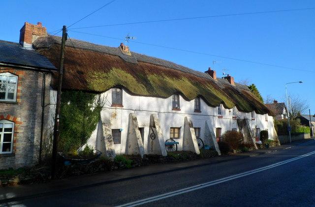 Grade II listed Blacksmiths Cottages, St Nicholas