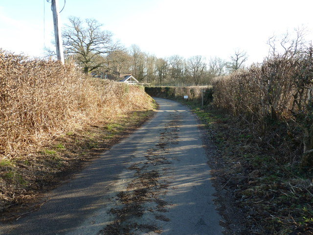 Sussex Border Path following Clearwater Lane