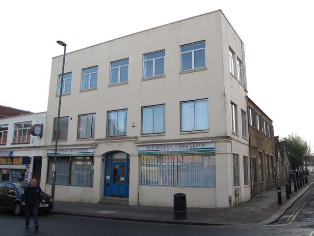 The offices of the Hendon Times, Church Road, NW4