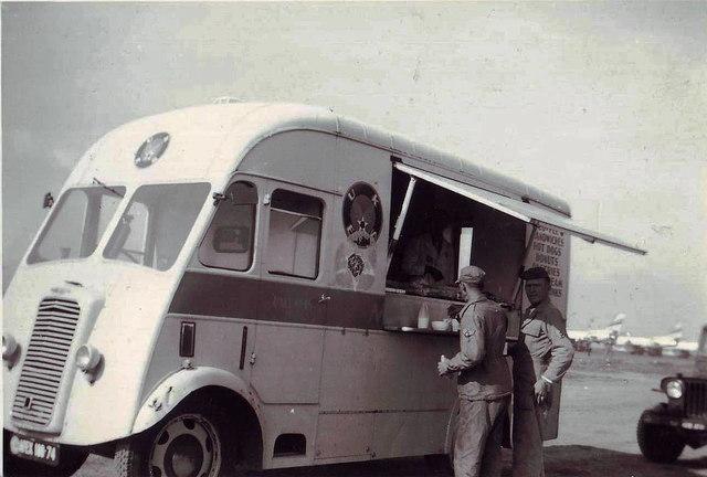Catering van, RAF Manston 1953