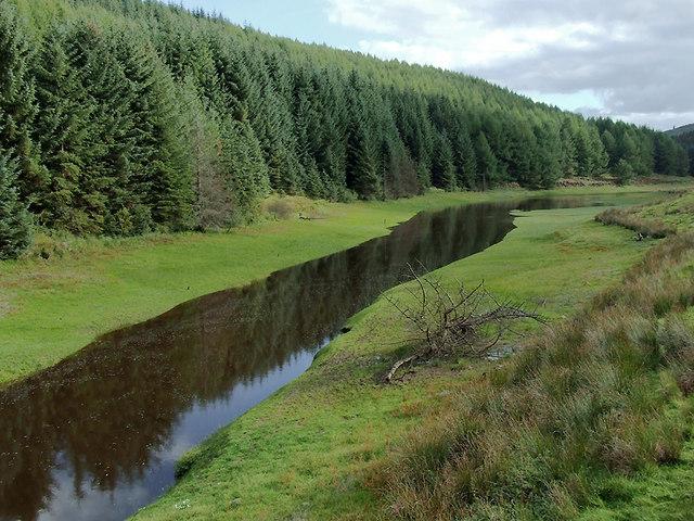 Afon Tywi/Llyn Brianne south of the Tywi Bridge