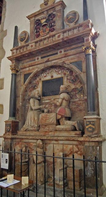 Memorial to Sir John Smythe, St Mary's church, Ashford