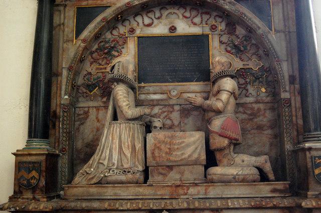 Sir John & Elizabeth Smythe memorial, St Mary's church, Ashford