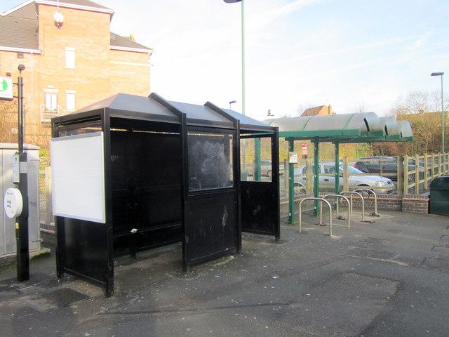 "Bromsgrove Station Platform One Waiting ""Room"" and Cycle Rack"