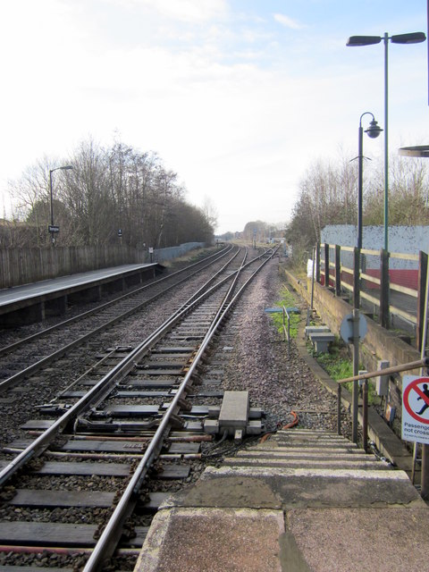 Bromsgrove Station South From Platform One