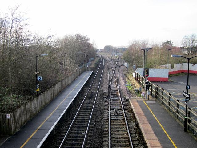 Bromsgrove Station Southwards From Footbridge