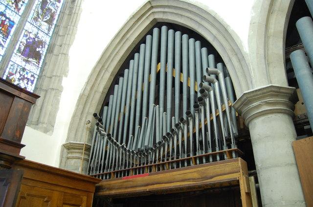 Organ Pipes, St Mary's church. Ashford