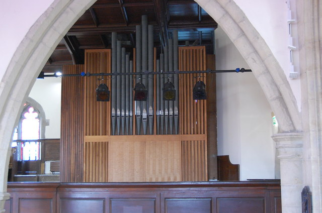Nave Organ, St Mary's church, Ashford