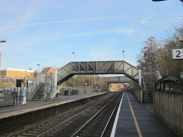 Bromsgrove Station Footbridge Looking North