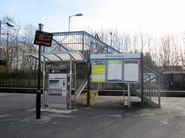 Bromsgrove Station Ticket Machine, Information Screen & Board Platform One