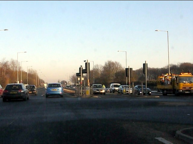 A580 at the A5208 junction