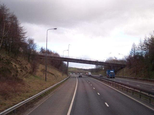 Roadbridge over M66 at Baldingstone