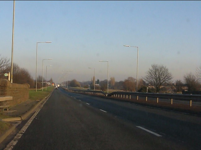 A580 at Windle Brook bridge