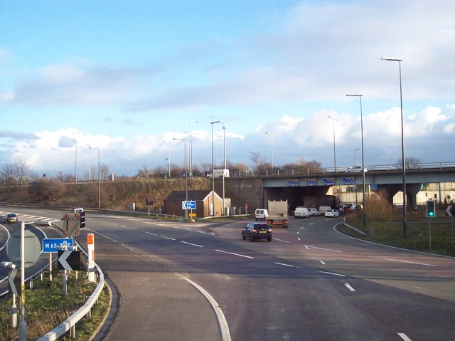 Junction 18 on the M66,M60,M62 Motorways