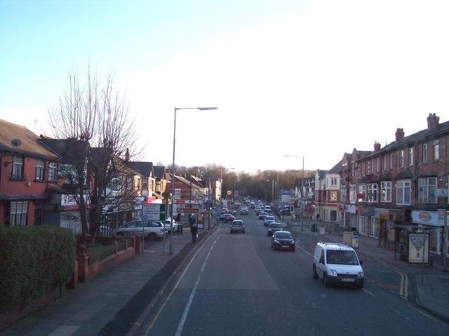 The A56 at Prestwich near Mountheath