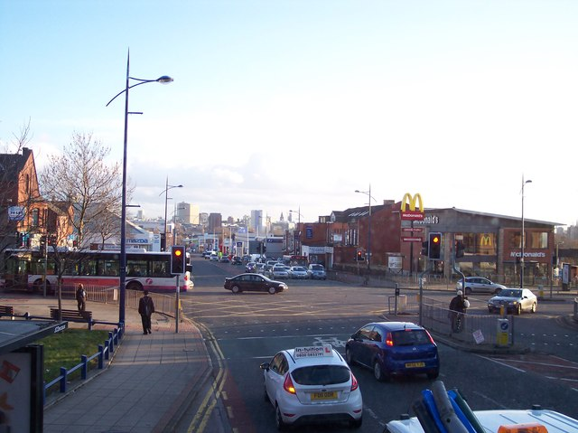 Great Cheetham Street crosses the A56 at Higher Broughton