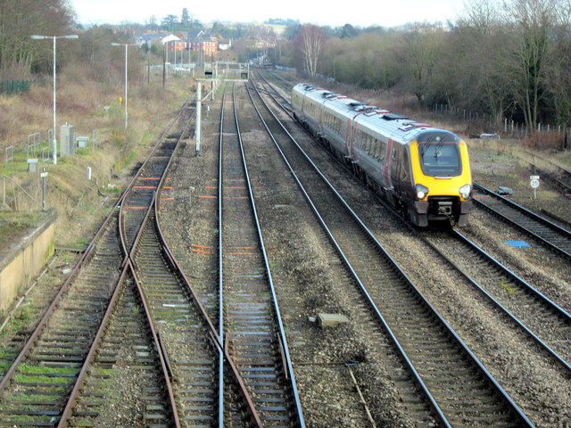 Train Passing Site of New Bromsgrove Station
