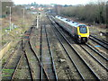 SO9668 : Train Passing Site of New Bromsgrove Station by Roy Hughes