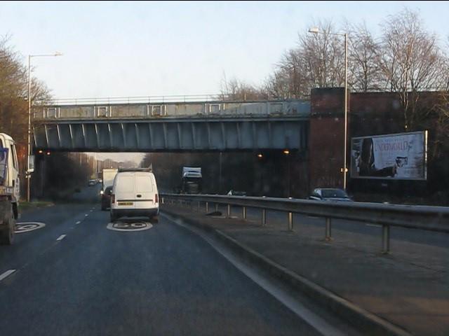 Railway overbridge, A580