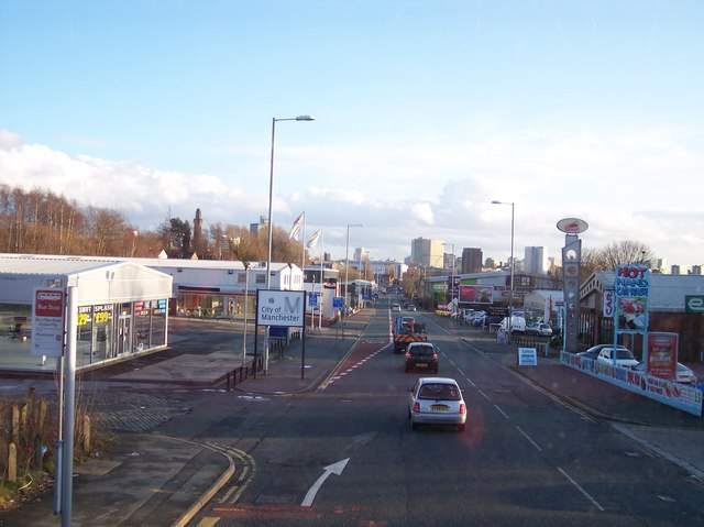 The a56 passes Manchester city boundary near Strangeways