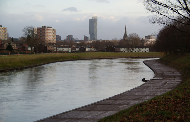 The River Irwell at Lower Broughton