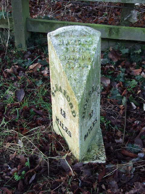 Cast Iron Milepost