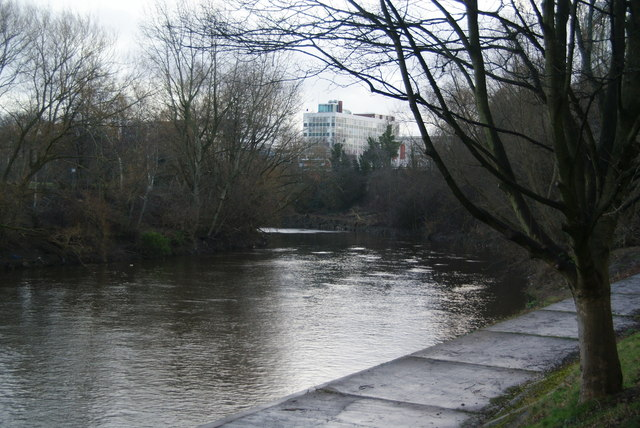 The River Irwell by Salford University