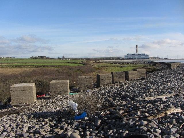 Anti-tank blocks at Limpert Bay