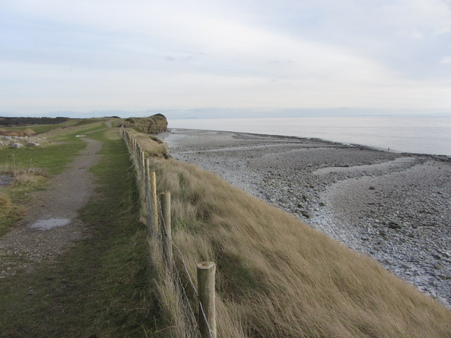 Cliff-top path near Rhoose Point