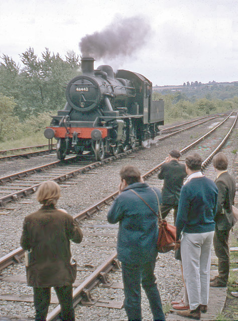 Severn Valley Railway: enthusiasm on Opening Day, 1970.