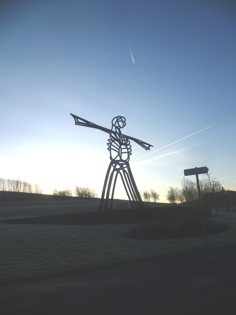 Sculpture at the end of Dawson Lane