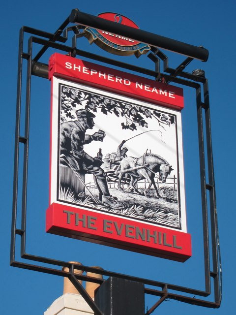 The Evenhill Inn sign