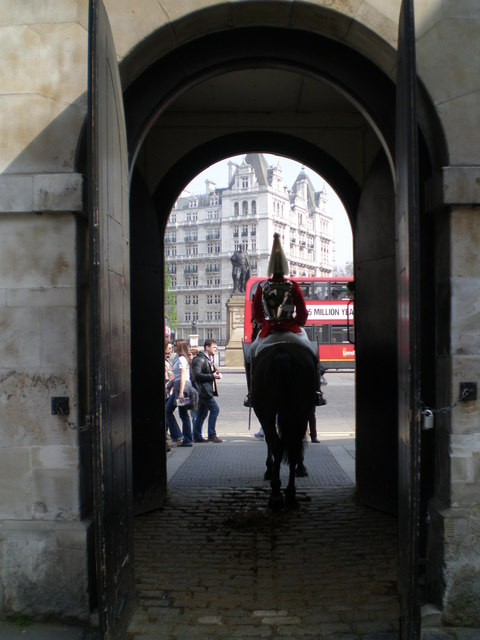 Unusual view of Horseguards