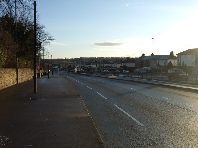 York Road (A64), heading east