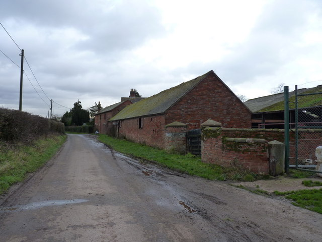 Farm buildings at Lower Drayton Farm