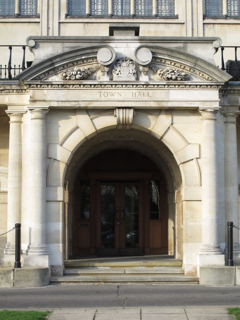 Entrance to Hendon Town Hall The Burroughs, NW4