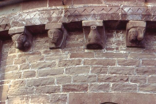Kilpeck church, corbels