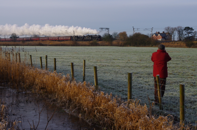 Steam train at Hest Bank