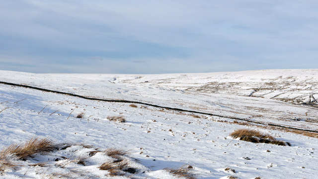 Moorland slope below White Edge