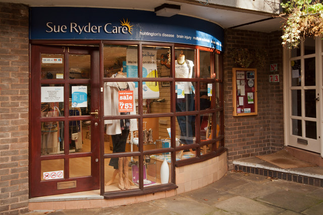 Sue Ryder Charity Shop, Cotton Shop Yard, Knutsford