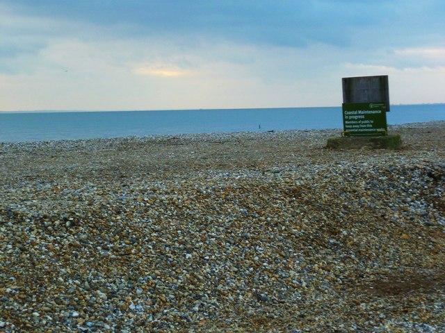 Coastal maintenance in progress