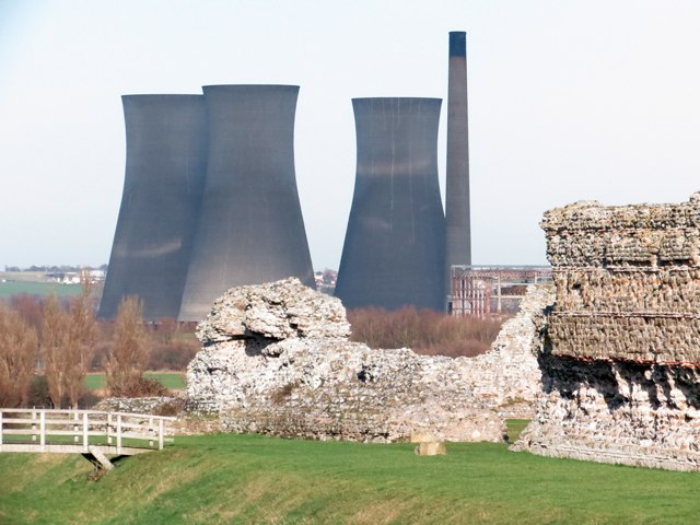 Richborough Castle and Power Station
