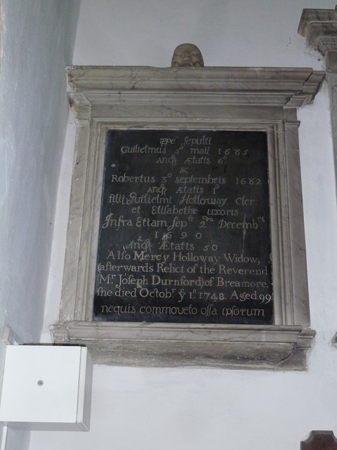 St Mary's Church, Breamore- memorial (g)