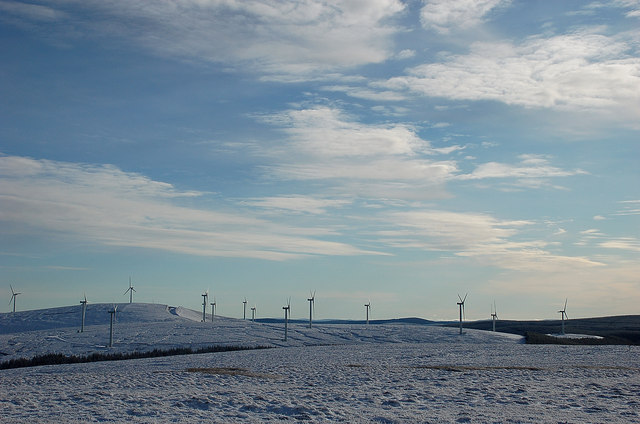 Bowbeat wind farm from Dundreich